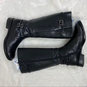 ECCO 37 Hobart tall black leather riding boots